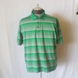 Ben Hogan Golf Shirt Green Stripe XL